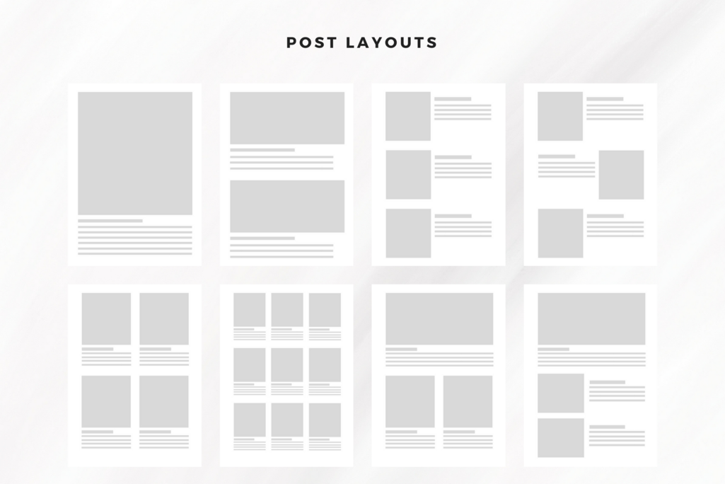 WordPress theme post layouts preview