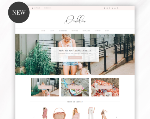 wordpress theme feminine pink